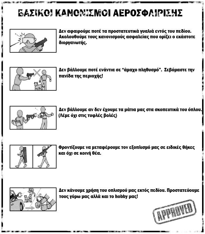 Βασικοί κανονισμοί αεροσφαίρισης