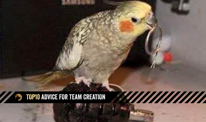 Top10 Advice for Team Creation
